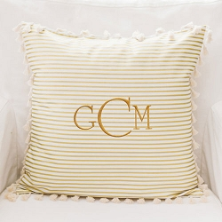 Gold Stripe Pillow | Gold Dust Crib Collection