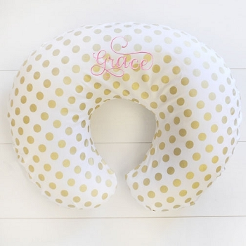 Gold Polka Dot Nursing Pillow Slipcover