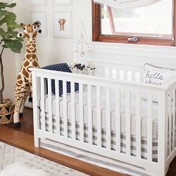 White and Gray Baby Bedding Set | Laguna Beach Collection
