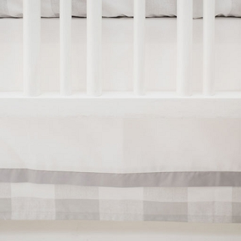 Grey and White Nursery Skirt | Grey Buffalo Check Collection