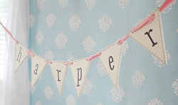 Wooden Flag Letters | Pennant Letters