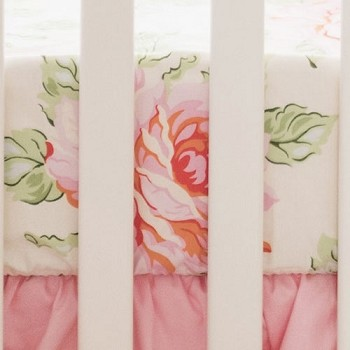 Pink Rose Crib Sheet  |  Hello Roses Collection