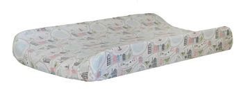 Coral Changing Pad Cover | In the City Crib Collection