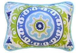 Suzani Decorative Pillow | Indigo Summer Crib Collection