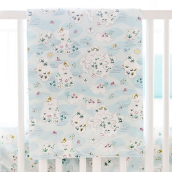 Map Crib Blanket  | Island Hopping Bedding Collection
