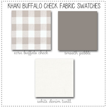 Khaki Buffalo Check Crib Bedding Collection Fabric Swatches Only