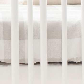 Buffalo Plaid Crib Sheet | Khaki Collection