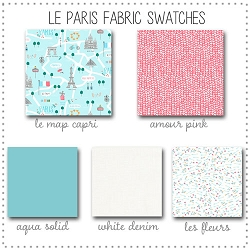 Le Paris Crib Collection Fabric Swatches Only