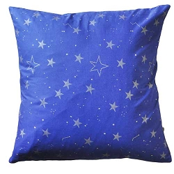 Navy Stars Throw Pillow | Lucky Stars in Navy Crib Collection
