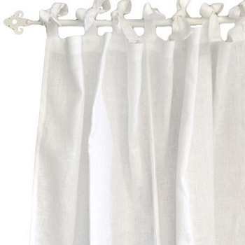 White Linen Curtains | Madison Avenue Crib Collection