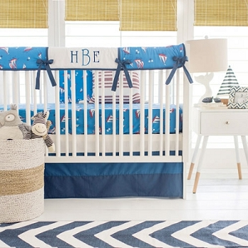 Nautical Crib Rail Guard Set | Harbor Collection