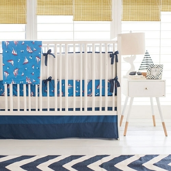 Blue Navy Nautical Crib Bedding | Harbor Crib Collection