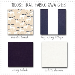 Moose Trail Crib Collection Fabric Swatches Only