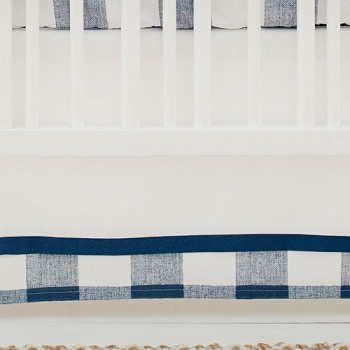 Navy and White Nursery Skirt | Navy Buffalo Check Collection