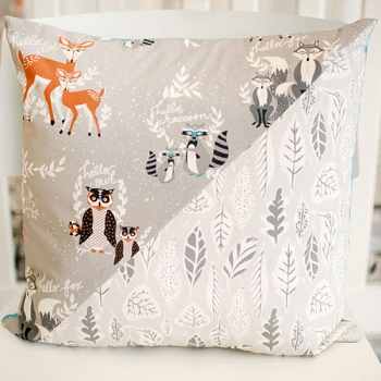 Woodland Pillow | Oh Hello Fog Crib Collection