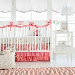Coral Nursery Set | Coral Ombre Bumperless Collection