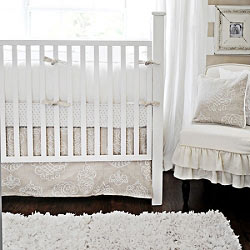 White Baby Bedding | Pebble Moon Crib Collection