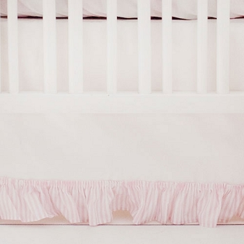 Twill White and Pink Nursery Skirt | Pink Buffalo Check Collection