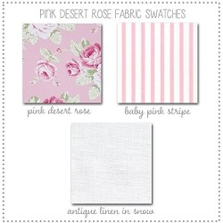 Pink Desert Rose Crib Collection Fabric Swatches Only