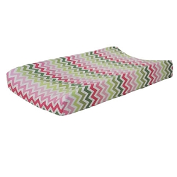 Watermelon Chevron Changing Pad Cover