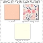 Rosewater in Peach Crib Collection Fabric Swatches Only