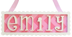 Scalloped Frame Personalized Plaque - 5 Letters