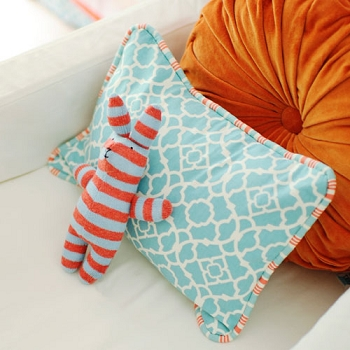 Aqua Pillow | Scout Crib Collection