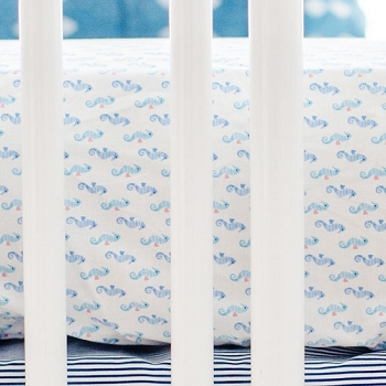 Seahorse Crib Sheet | Ahoy Matey Crib Collection