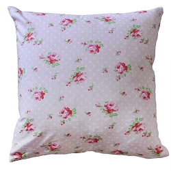 Shabby Rosebud Throw Pillow