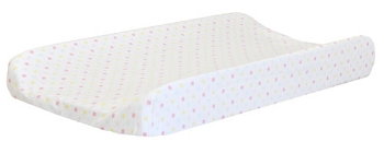White Polka Dot Changing Pad Cover | Flamingo Baby Collection