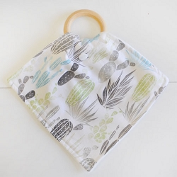 Cactus Teething Blankets | Desert Dawn Earth Collection
