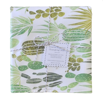 Cactus Travel Changing Pad | Desert Dawn in Grass Collection