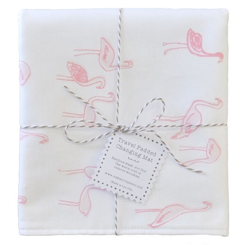 Pink Flamingo Travel Changing Pad | Flamingo Baby Collection