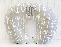 Gray Arrow Nursing Pillow Covers | Wanderlust in Gray Collection