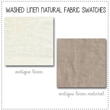 Washed Linen in Natural Crib Bedding Collection Fabric Swatches Only