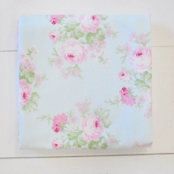 Aqua Floral Baby Blanket with Flannel Backing | Wild Bouquet in Aqua Collection