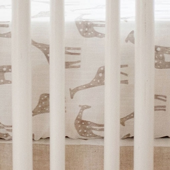 Neutral Giraffe Crib Sheet | Wild Safari Collection