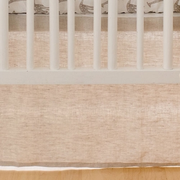 Neutral Linen Crib Skirt | Wild Safari Collection