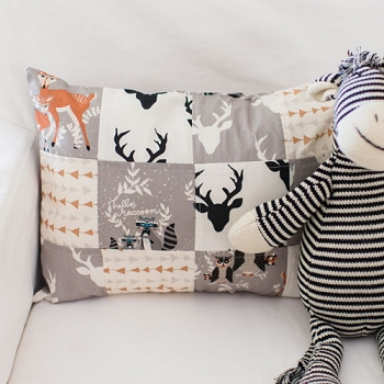 Woodland Patchwork Pillow