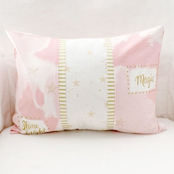 Pink and Gold Pillow | You are Magic in Pink Crib Collection
