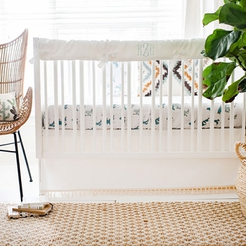 Cactus Crib Rail Guard Set | Young & Brave Crib Collection