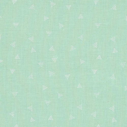 Dear Stella Designs Triangle Dot Midori Green Fabric