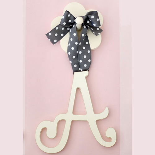Hanging Cursive Wooden Nursery Letters