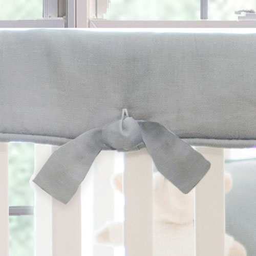 Crib Rail Guard | Washed Linen in Gray Collection