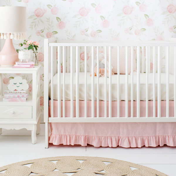 Girl Baby Bedding Sets Blush New, Pink And Mint Nursery Bedding
