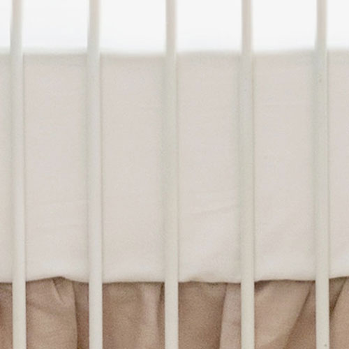 Ivory Crib Sheet | Washed Linen Collection