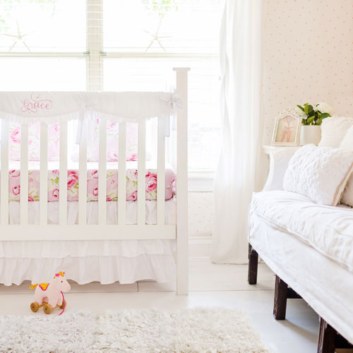 White Nursery Bedding Set | White Collection
