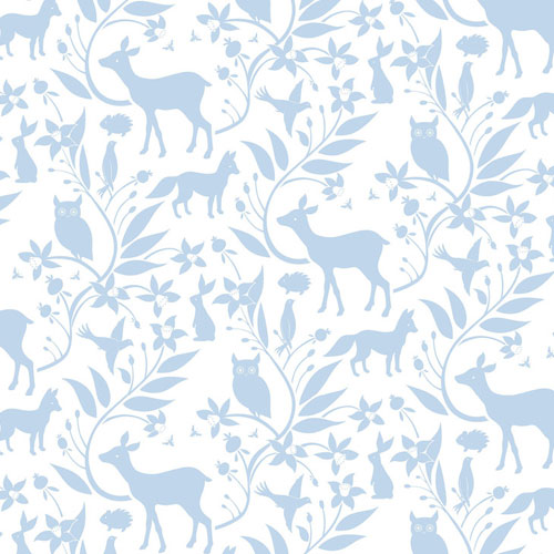 Ana Davis by Blend Born Wild Woodland Creatures Blue