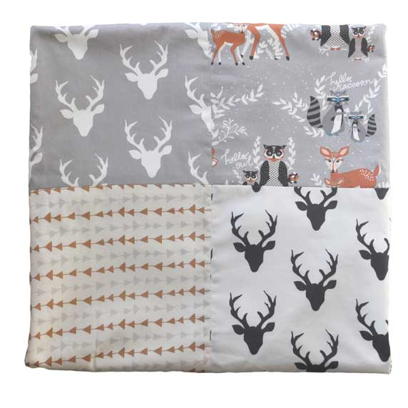 Woodland 4 Patch Crib Blanket