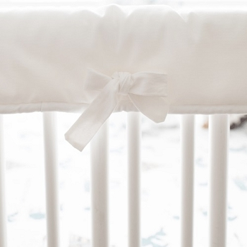 White Crib Rail Protector